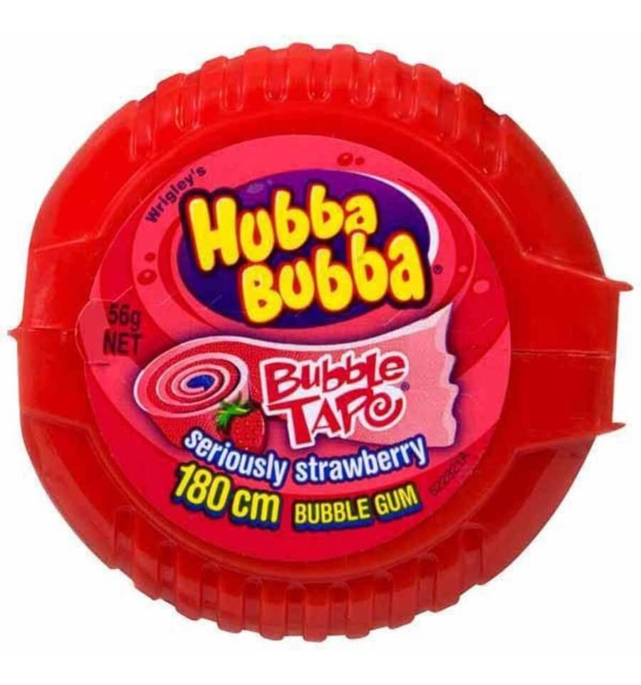 hubba bubba tape strawberry